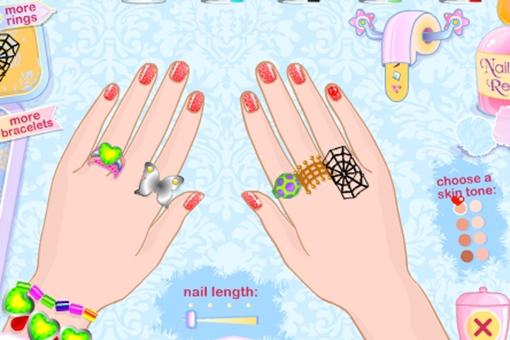 Free online nail decoration games for Baby room decoration games free online