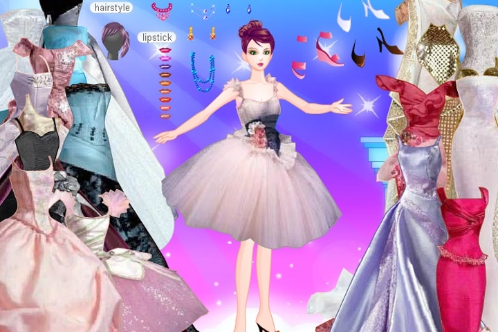 Long gowns dress up games