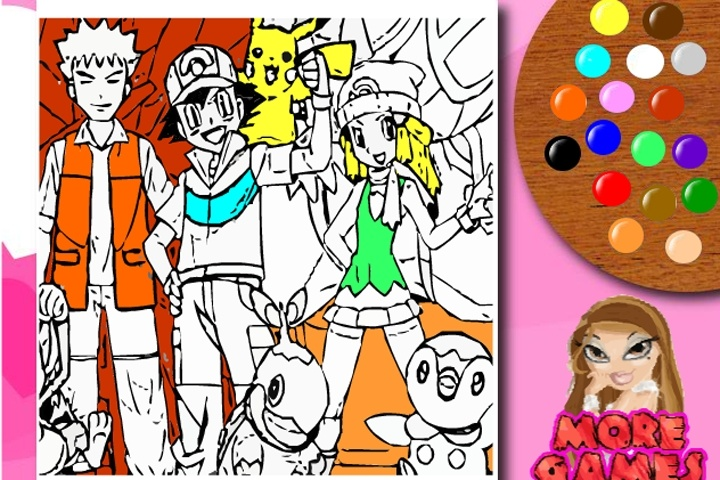 Colouring Games Online Play : Pokemon coloring game games games loon
