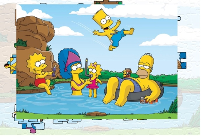 Simpsons Family Jigsaw Puzzle Game - Play Free Simpsons games - Games Loon