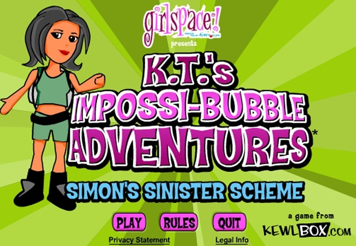 KT's Impossi-Bubble Adventures Game