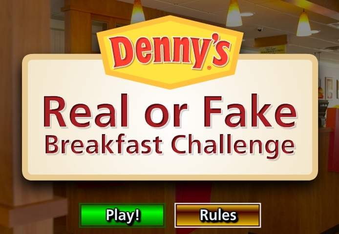 Denny's Real Or Fake Breakfast Challenge Game