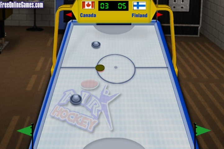 Air Hockey 3d Game Hockey Ice Skating Games Games Loon