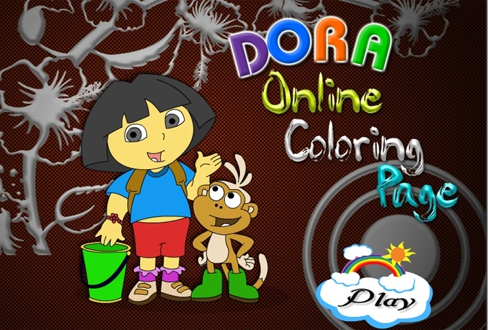 Dora Boots Online Coloring Page Game