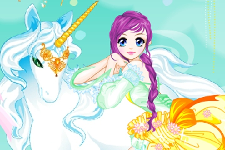 Fairy And The Unicorn Dress-Up Game - Fairy  Mermaid -4838