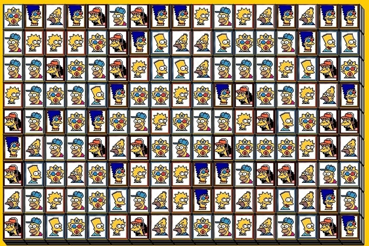 tiles of the simpsons game - mahjong games