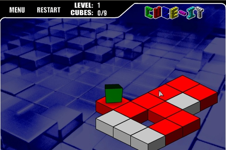 cube-it game - brick games