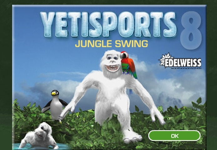 Yeti Sports 8 Jungle Swing Game