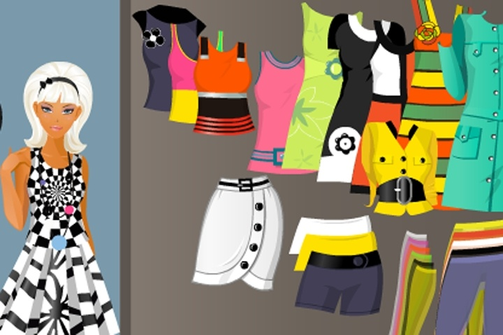 60s style dress up game