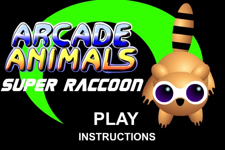 Arcade Animals Super Raccoon Game