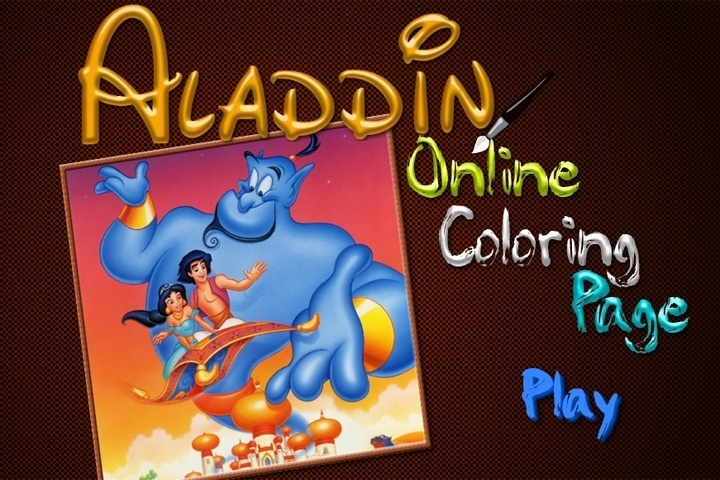 Aladdin Online Coloring Page Game - Disney games - Games Loon
