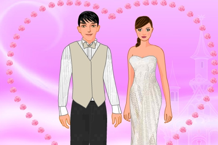 Bride And Groom Dress-up Game