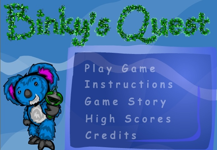 Binky's Quest Game