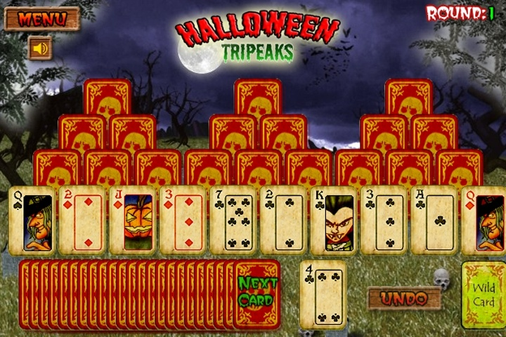 Halloween Tripeaks Solitaire Game - Solitaire games ...