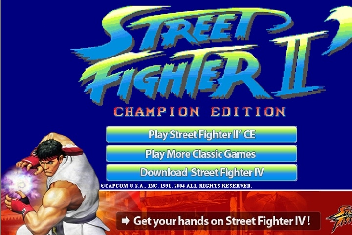 Street Fighter II Champion Edition Game - 1 vs 1 fighting games