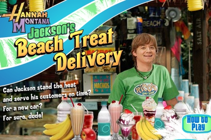 hannah montana - beach treat delivery game