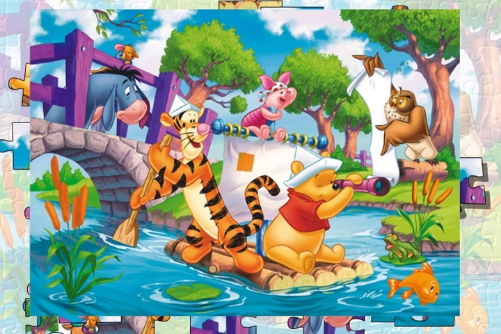 Winnie The Pooh Giochi: Winnie The Pooh With Tigger And Piglet Jigsaw Puzzle Game