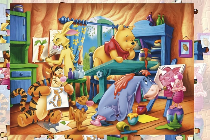 Winnie The Pooh Giochi: Winnie The Pooh Home Jigsaw Puzzle Game