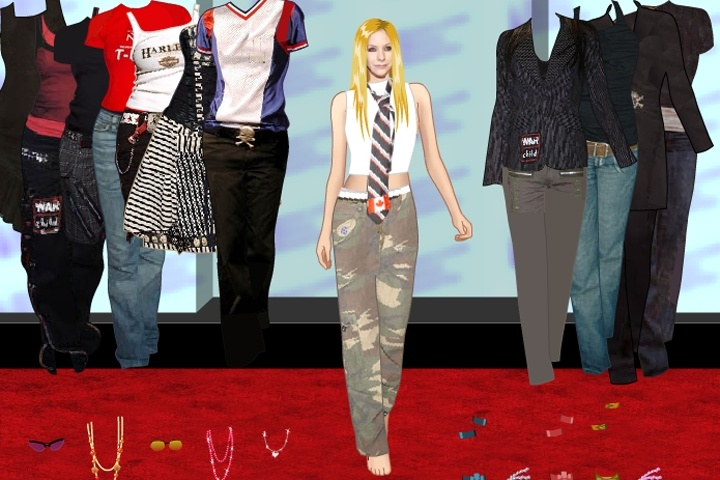 Avril Lavigne Dress Up Game Celebrity Dress Up Games Games Loon