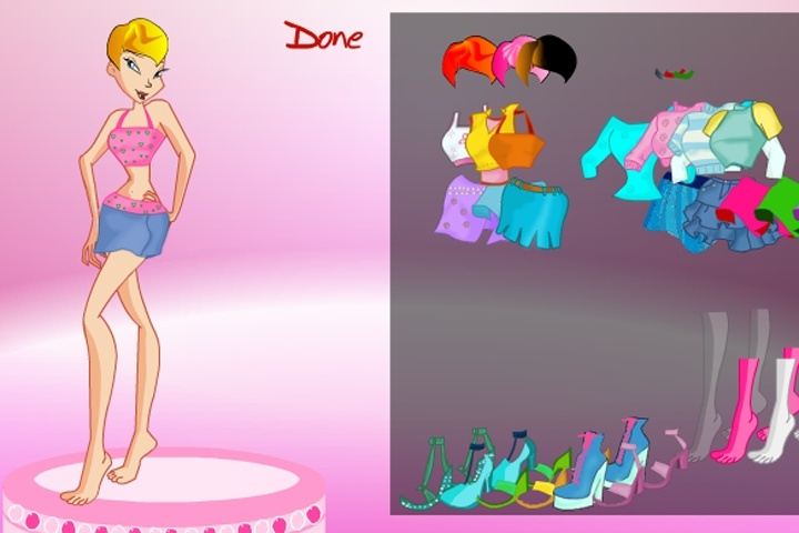 Winx Memory Dress Up Game