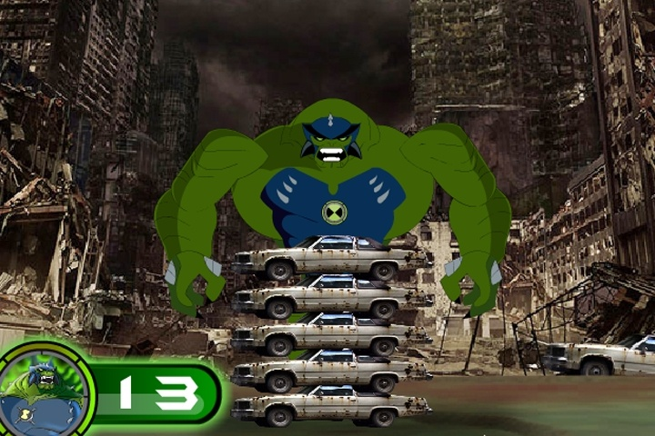Ben 10 Ultimate Humungousaur Super Giant Strength Game