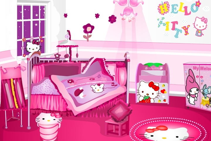 Great Hello Kitty Room Decoration Game. Cartoon Online Game Info