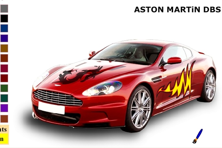Aston Martin Db9 Car Coloring Game - Coloring games - Games Loon