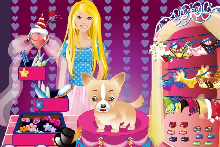 Barbie And Her Cute Dog Dress Up Game - Barbie games - Games