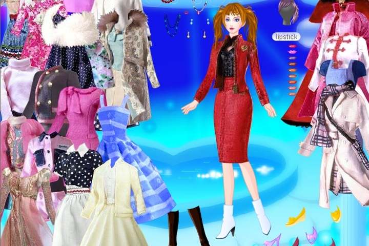 What are some online doll dress-up games?
