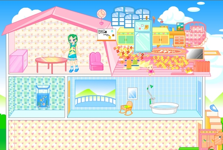 Barbie dollhouse decoration game barbie games games loon for All barbie house decoration games
