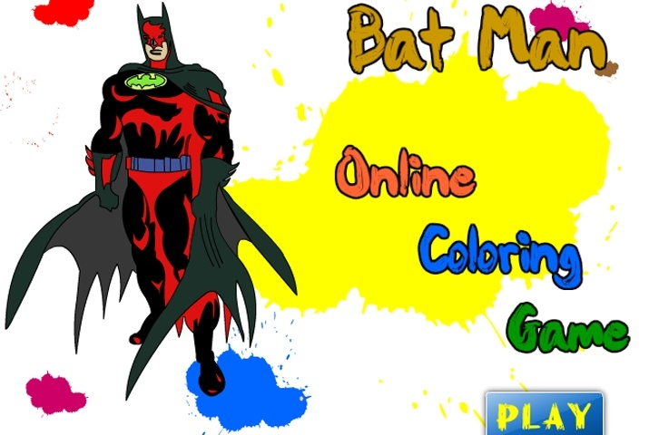 batman online coloring game game - Online Coloring Games