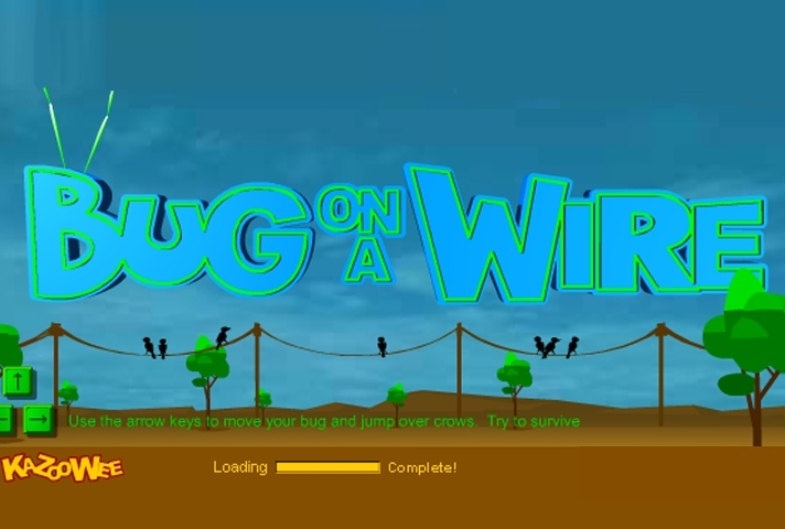Bug On A Wire Game - Animal games - Games Loon