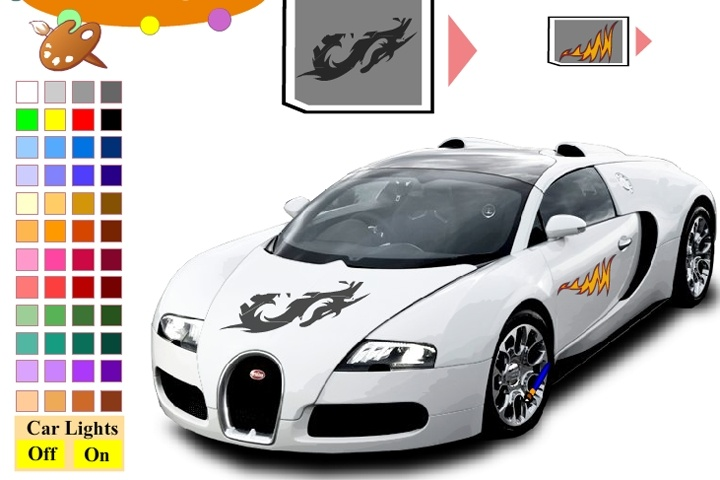 Bugatti Veyron Car Coloring Game