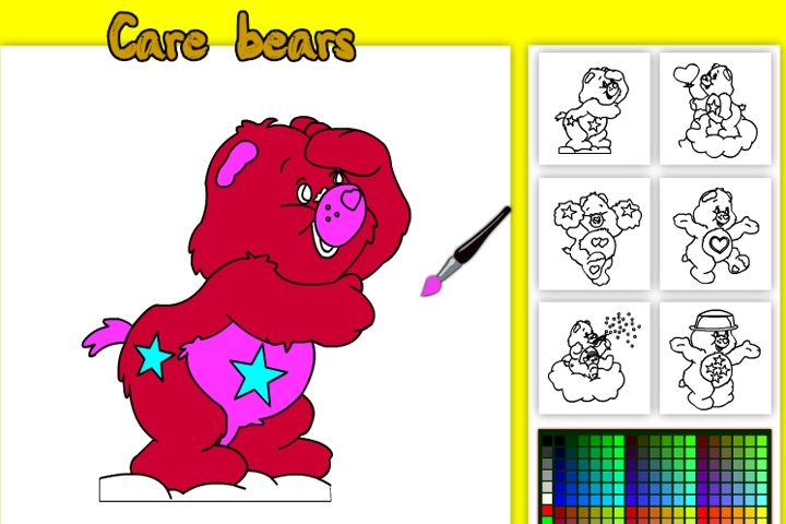 Care Bears Online Coloring Game - Coloring games - Games Loon