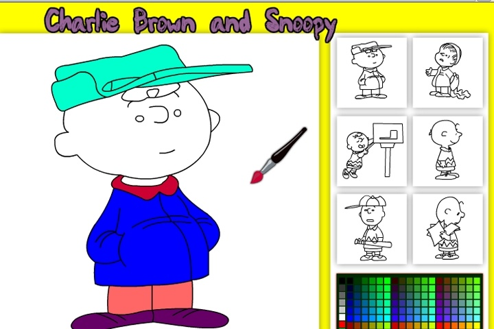 charlie brown online coloring game - Online Coloring Games