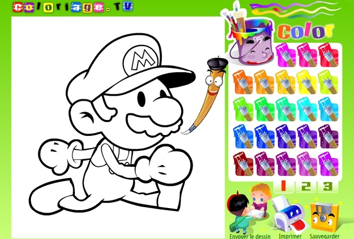 super mario coloring game arcade online game info - Free Online Color Games